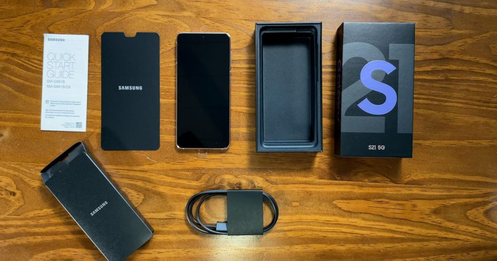 Unboxing Samsung S21